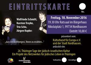 Literarisches und musikalisches Programm @ Bürgerhaus Nordhausen | Nordhausen | Thüringen | Deutschland